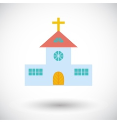 Church single flat icon vector
