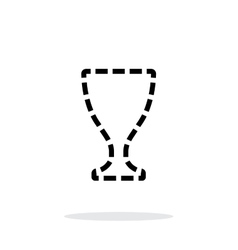 Trophy cup silhouette icon on white background vector