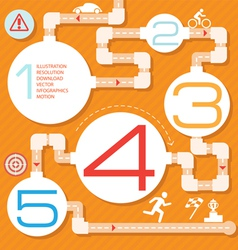 Action steps painted a labyrinth vector