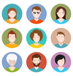 Set of people avatar in style flat design vector