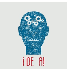 Creative of human idea vector