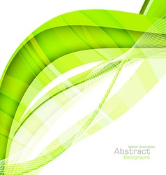 Abstract green waves - data stream concept vector