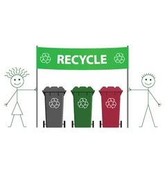 Recycling banner vector