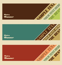 Retro banner set vector