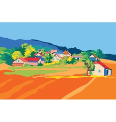 Rural landscape objects vector