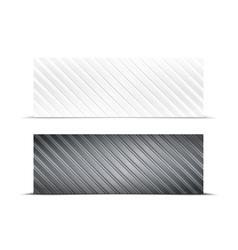 Striped banners vector
