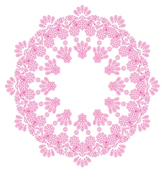 Round lace doily vector