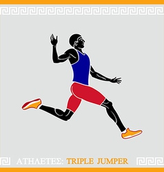 Athlete triple jumper vector