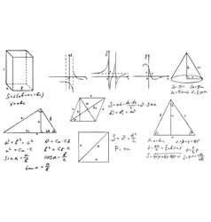 Mathematics and geometry set vector