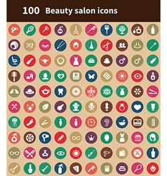 100 beauty salon icons vector