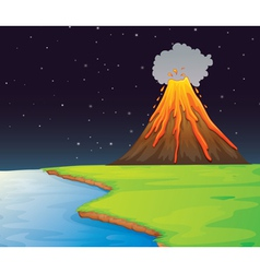 Volcano eruption vector