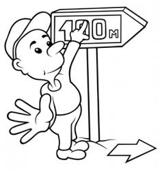 Cartoon boy vector