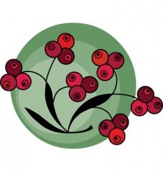 Berries background vector