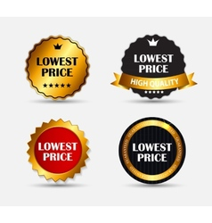 Lowest price label set vector