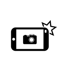 Icon of smart phone for photo selfie vector
