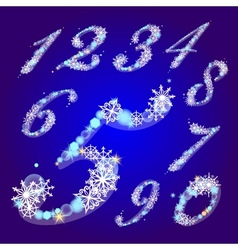 Winter figures with snowflakes vector