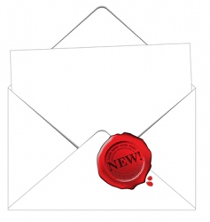 Envelope and paper vector
