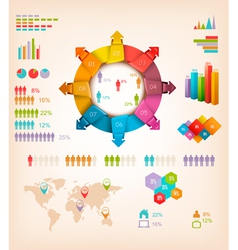 Set of info graphics elements vector