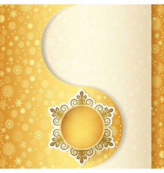 Christmas gift ball snowflake design background vector
