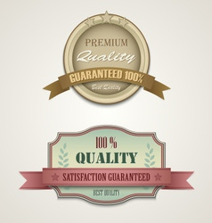 Vintage and retro web design elements vector