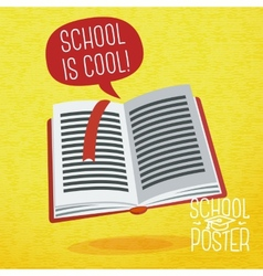 Cute school college university poster - study book vector