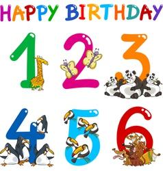Birthday anniversary cartoons set vector