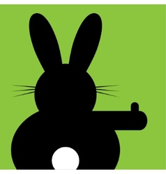 Sitting and hitchhiking bunny vector