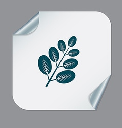 Branch with leaves symbol icon geometry teaching vector