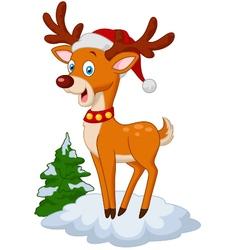 Sweet christmas deer vector