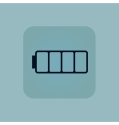 Pale blue empty battery icon vector