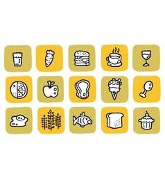 Icon food vector
