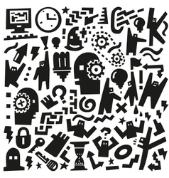 Thinking doodles vector