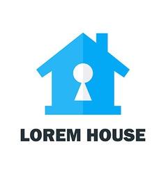 House with key hole logo vector