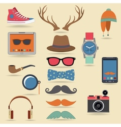 Hipster elements set vector