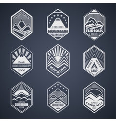 Mount badge set1white vector