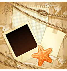 Nautical scrapbook template vector