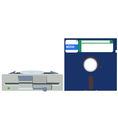 Old floppy vector