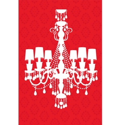 Luxury chandelier vector