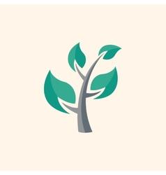 Tree flat icon vector
