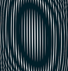 Optical background with monochrome geometric lines vector