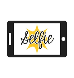 Selfie photo vector