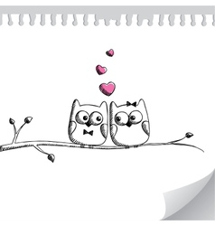 Hand drawn owls vector