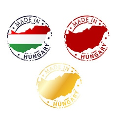 Made in hungary stamp vector