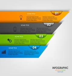 Info graphic with colored design stripes template vector