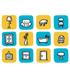 Icon furniture vector