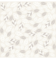 Seamless plant pattern with fabric texture vector