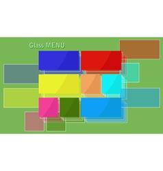 Glass menu vector
