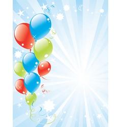 Festive balloons and lightburst vector