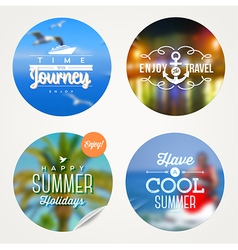 Summer holidays travel and vacation set vector
