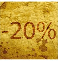 20 percent discount icon symbol flat modern web vector